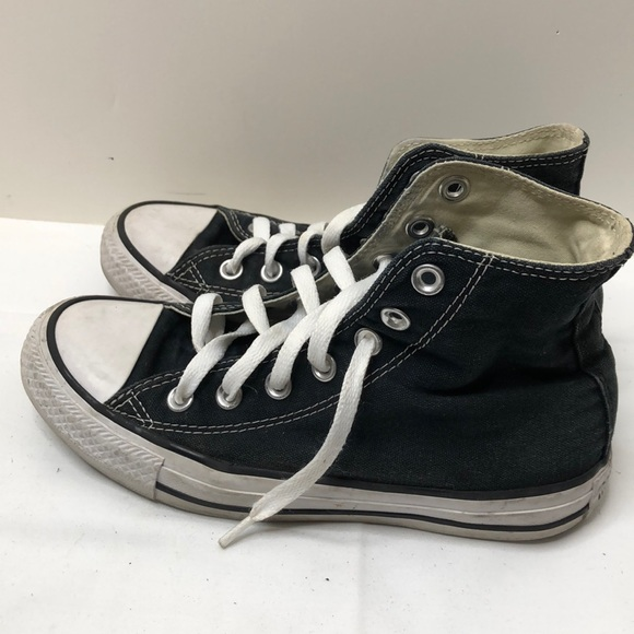Converse Shoes   Black High Tops Size
